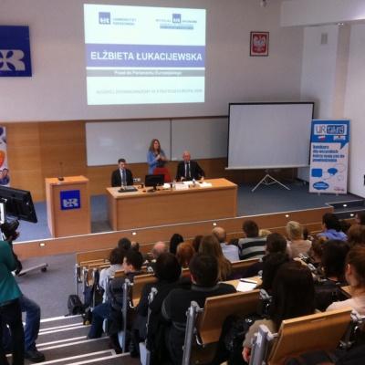 Bogusław Liberadzki na spotkaniu ze studentam